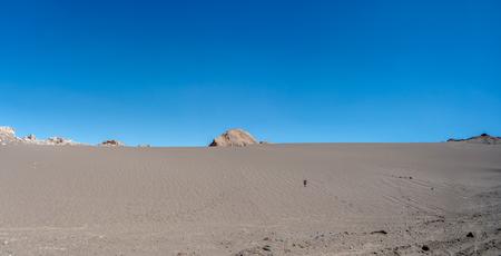 칠레 아타 카마 사막. 번역 : 통과하지 마십시오.