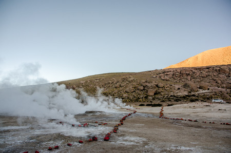 Tatio geysers, Atacama desert, Chile Stock Photo