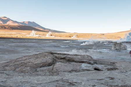 Tatio geysers, Atacama desert, Chile Stock Photo