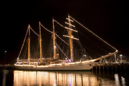 Auckland, New Zealand - November 21, 2016: Ship Esmeralda at the New Zealand Navy�s 75th Birthday celebrations