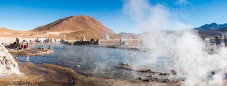 Tatio geysers, Atacama desert, Chile Editorial