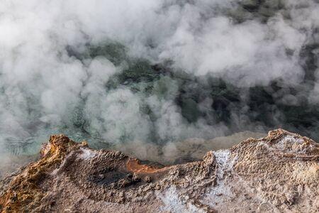 vapore acqueo: Geyser di Tatio, deserto di Atacama, Cile