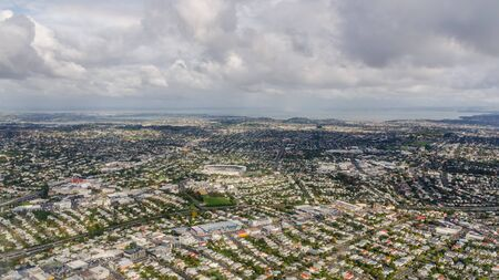 Aerial view of Auckland city, New Zealand Stock Photo