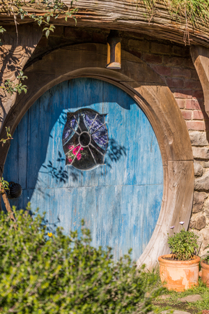 Matamata, New Zealand - June 07,20 17 : Hobbiton, a movie set created for the filming of the Lord of the Rings and The Hobbit movies Editorial