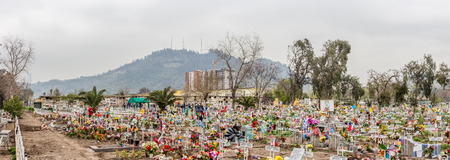 Santiago, Chile - September 09, 2017: General Cemetery of Santiago the Chile, is located in Recoleta. It has 86 hectares, where nearly two million people are buried.