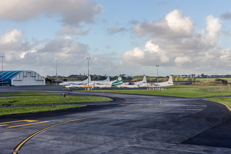 Auckland, New Zealand - September 30, 2017: New Zealand planes at Auckland International Airport, the largest and busiest airport in New Zealand.