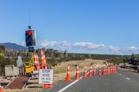 Road signs informing about detour Banco de Imagens - 93183672