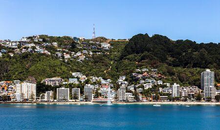 Wellington waterfront, north island of New Zealand Stock Photo