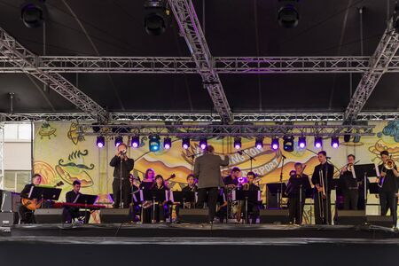 Wellington, New Zealand - March 25, 2018: Fantastic food, drink and live bands at Cuba Dupa Festival 2018 in Wellington, New Zealand. Editoriali