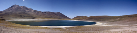 Miñiques lagoon in Atacama Desert, Chile