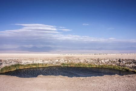 Ojo del salar lake in Atacama Desert, Chile Stock Photo