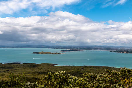 Landscape of Auckland city, New Zealand.