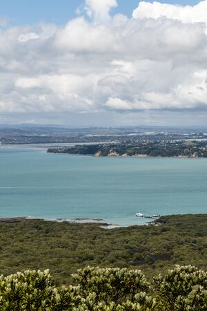 Auckland, New Zealand - December 07, 2015: Ferry at Rangitoto Island, New Zeland. Editoriali