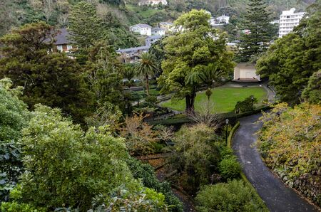 The Soundshell in Wellington Botanic Garden, New Zealand Stock Photo