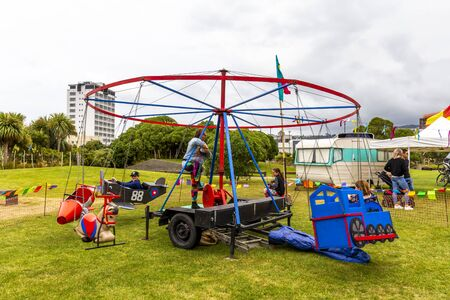 Wellington, New Zealand - December 01, 2019: Live music and family entertainment at The Extravaganza Fair in Wellington, New Zealand