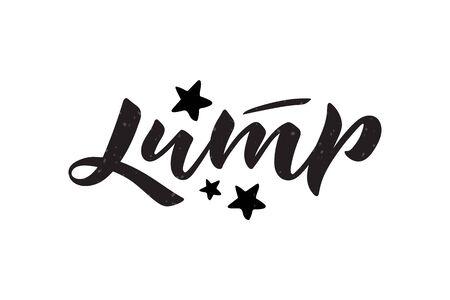 Vector illustration of Jump phrase. Trampoline park concept. Stock Illustratie