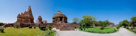 khajuraho: Temple Khajuraho panor�mica, India