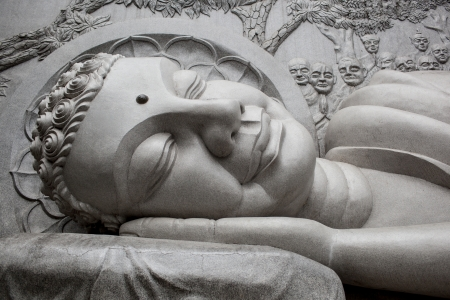 samsara: Sleeping Buddha At Long Son Pagoda In Nha Trang, Vietnam