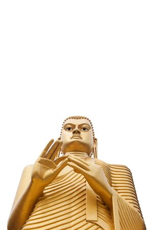 Buddha statue in Golden Temple in Dambulla, Sri Lanka  photo