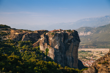 kalambaka: Meteora Monasteries is one of the largest and most important complexes of Greek Orthodox monasteries in Greece Stock Photo