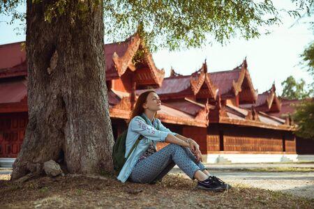 handcarves: Traveler. Mandalay, Myanmar (Burma)