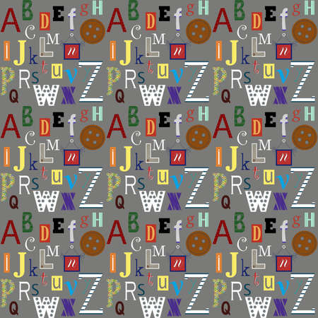 anything: Background design.Alphabet letters background for anything You want.Colorful alphabet letters on the grey background.