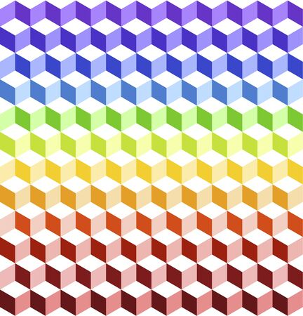lots: Seamless pattern.Background design covered by a lots of colorful cubes.