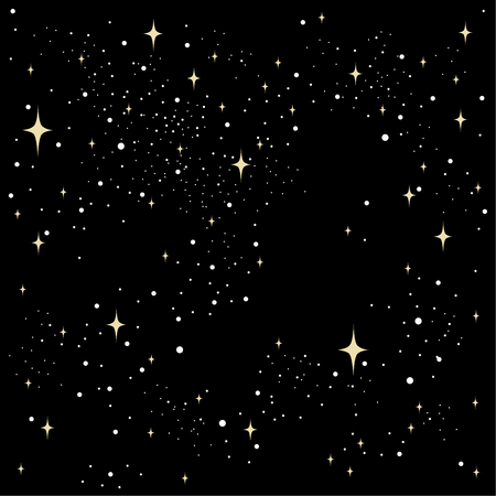 the illustration seamless texture of the night sky stars beige