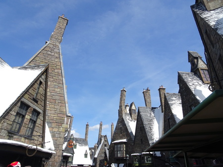 The only all-wizarding village in Britain, Hogsmeade Village