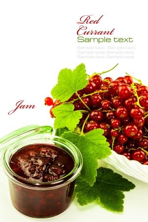 redcurrant: redcurrant jam