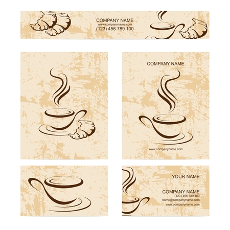 set of business cards for restaurant or bar
