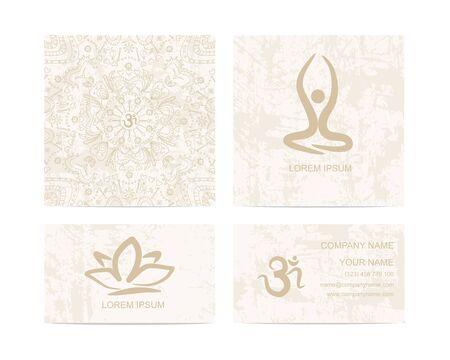 ko: Design template for yoga studio business card