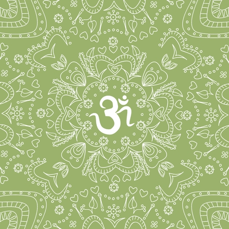ko: Ohm handdrawn ornamental pattern Illustration