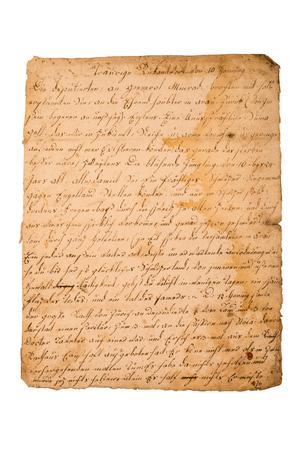 Fragment of an old handwritten letter. It was written in 1820 Imagens - 39969173