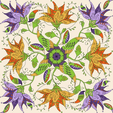 Doodle mandala.  Ilustração