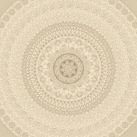 Illustration of mandala. Round pattern, oriental style