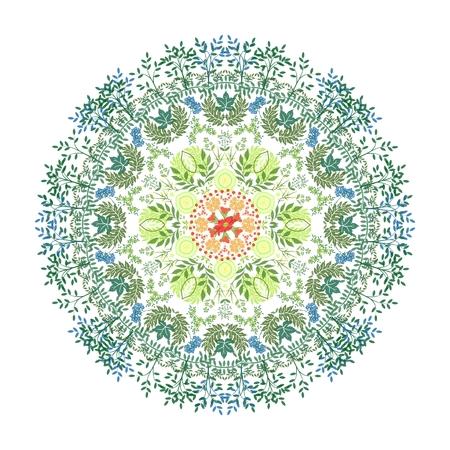 Floral mandala. Round pattern, orient style.