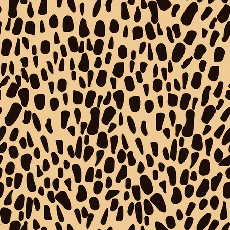 animal vector: Leopard animal seamless pattern