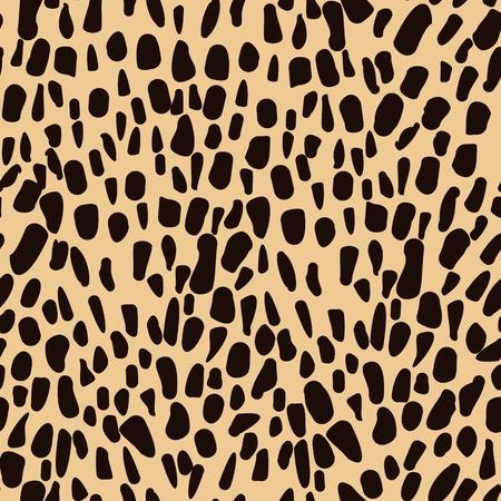 animales safari: Leopard Modelo inconsútil animal