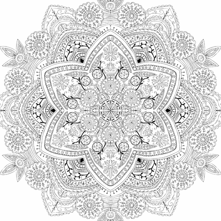 Hand drand mandala vector
