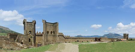 impregnable: Old Genoese fortress. Sudak, Crimea, Russia Stock Photo