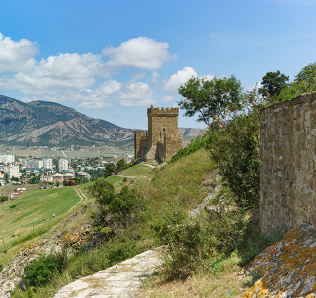 impregnable: the Path leading to the fragment of the Genoese fortress. Sudak Crimea Editorial
