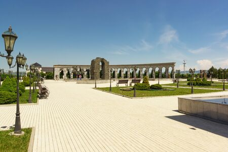 Nazran, Ingushetia, Russia - June 02, 2019: memorial of memory and glory - a large memorial complex dedicated to the most important memorable dates, tragic and solemn events in the history