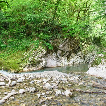 Devils gate Canyon on the Khosta river in the eponymous district of Sochi. Russia, Krasnodar region Stock fotó