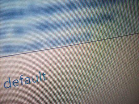 closeups: Default text in screen