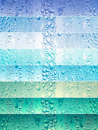 tone: Banners with water drops in blue