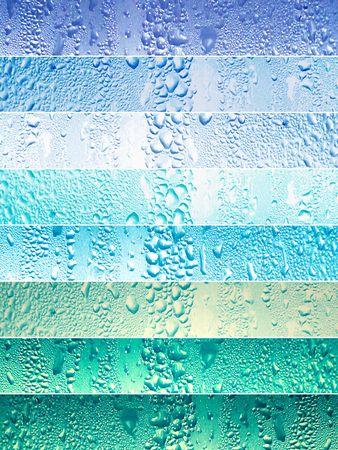 Des banderoles avec des gouttes d'eau en bleu Banque d'images - 5558965