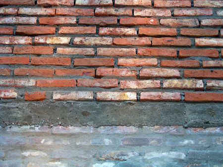architectural architectonic: Closeup to the texture of a brickwall Stock Photo