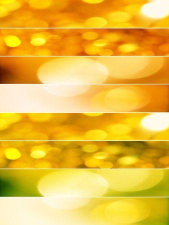 Gold and orange Christmas lights Stock Photo