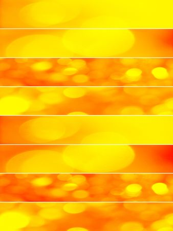 Yellow and orange party lights background photo